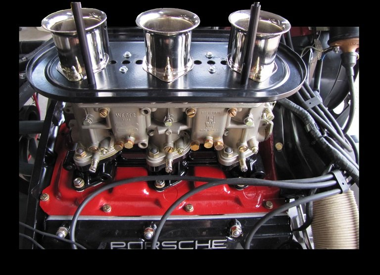 Carburetors on a Porsche Engine