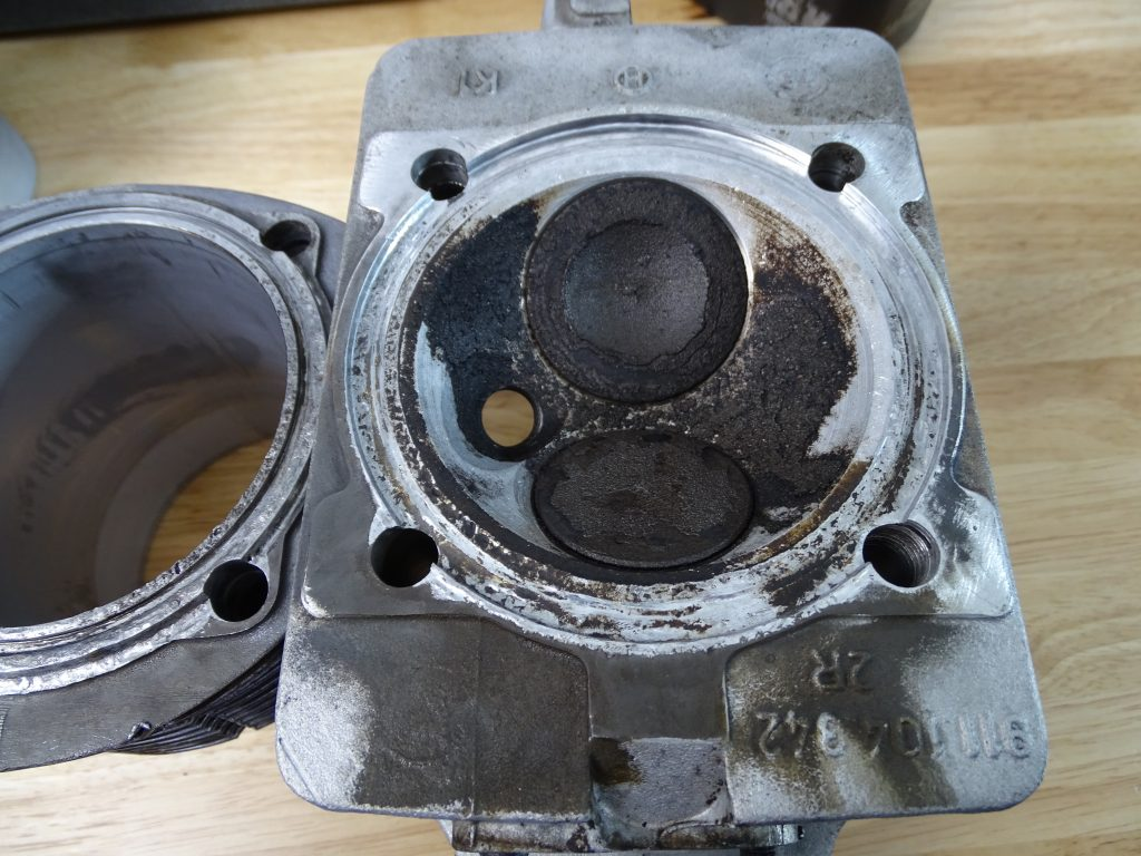 Damaged Cylinder head and Barrel due to loose head studs
