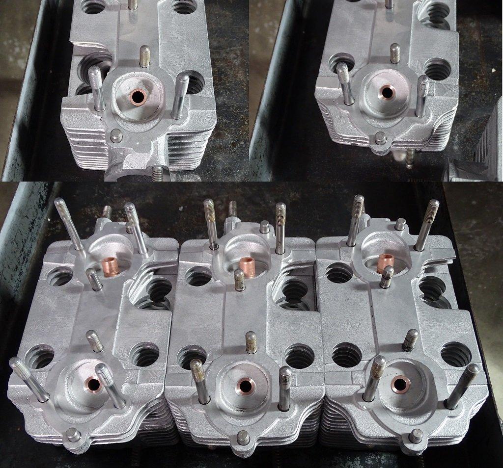 Cabezas de cilindros después de mecanizar un lado