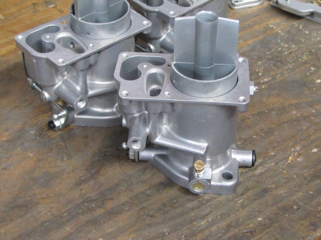 Single carburetor body waiting on a jet pack Solex 40P-I