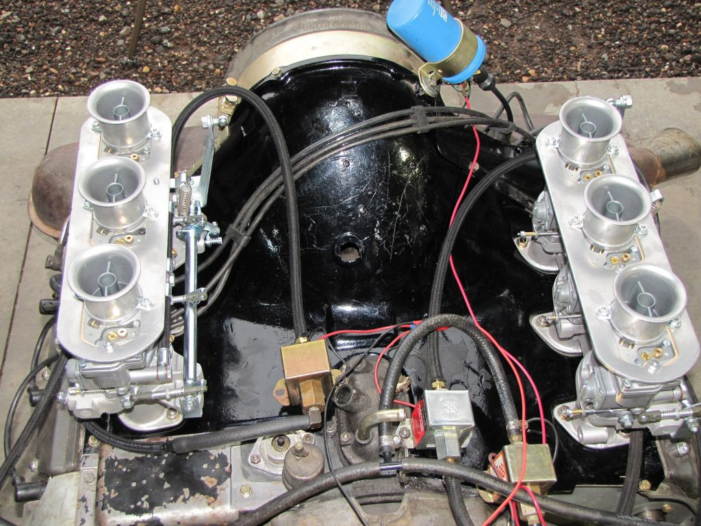 The Solex P40-I on an engine