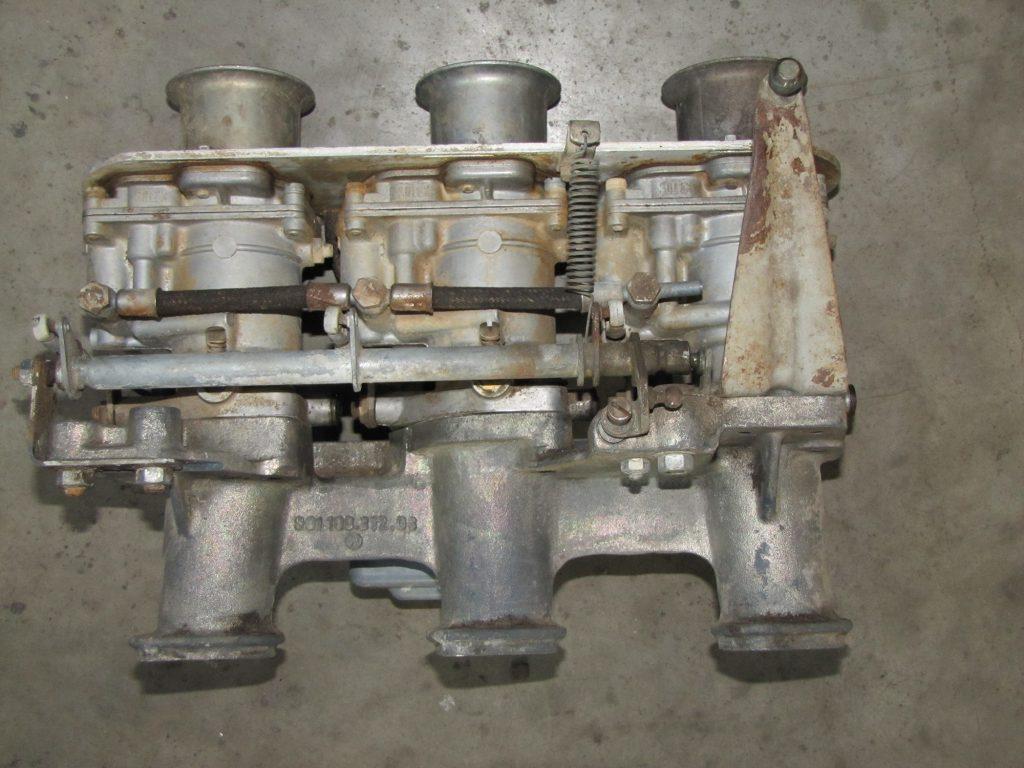 Unrestored set of Solex P40-I Carburetors