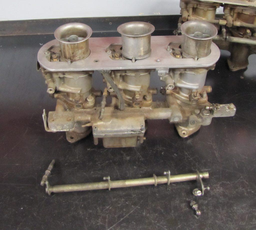 Carburetor linkage bar can wear alot. Solex 40P-I