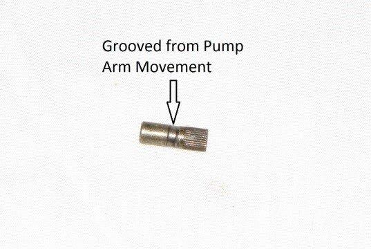 Worn Pump Pivot Pin