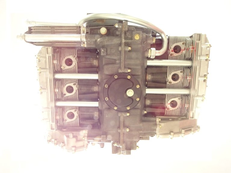 Bottom view of Porsche air-cooled motor