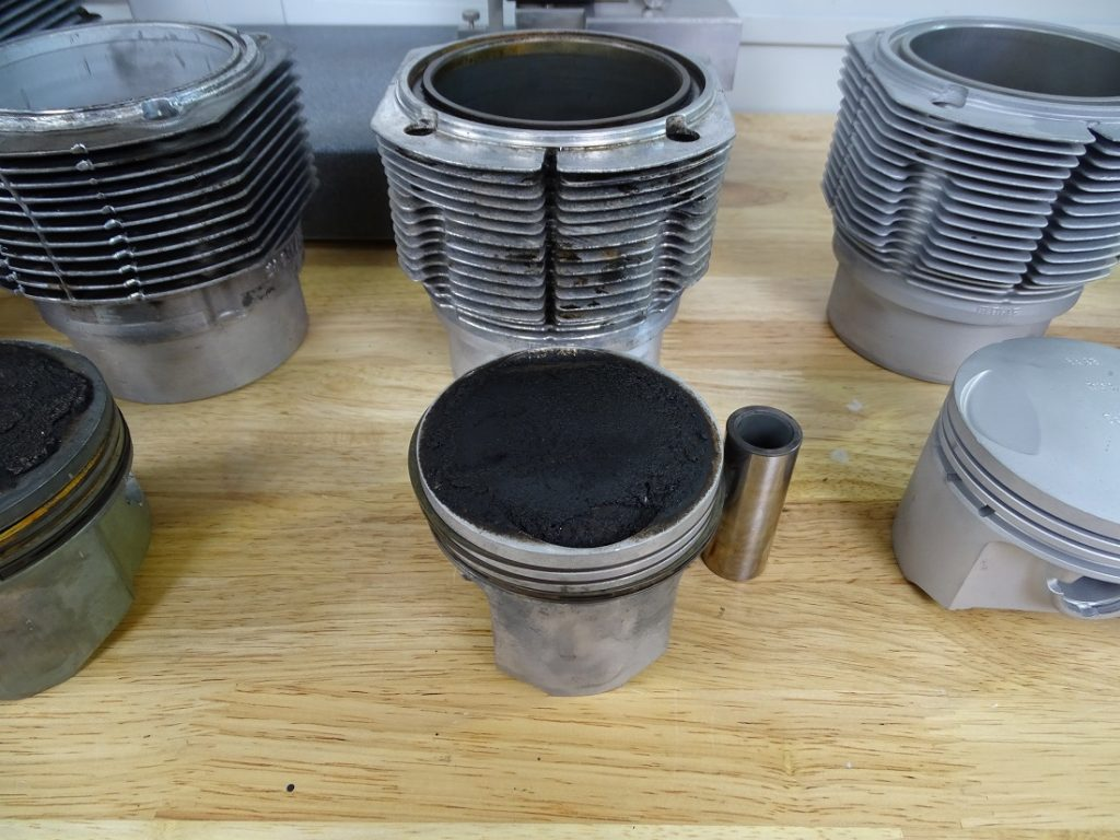 You can have different combinations of pistons and cylinders on your Porsche Manesium engine case.