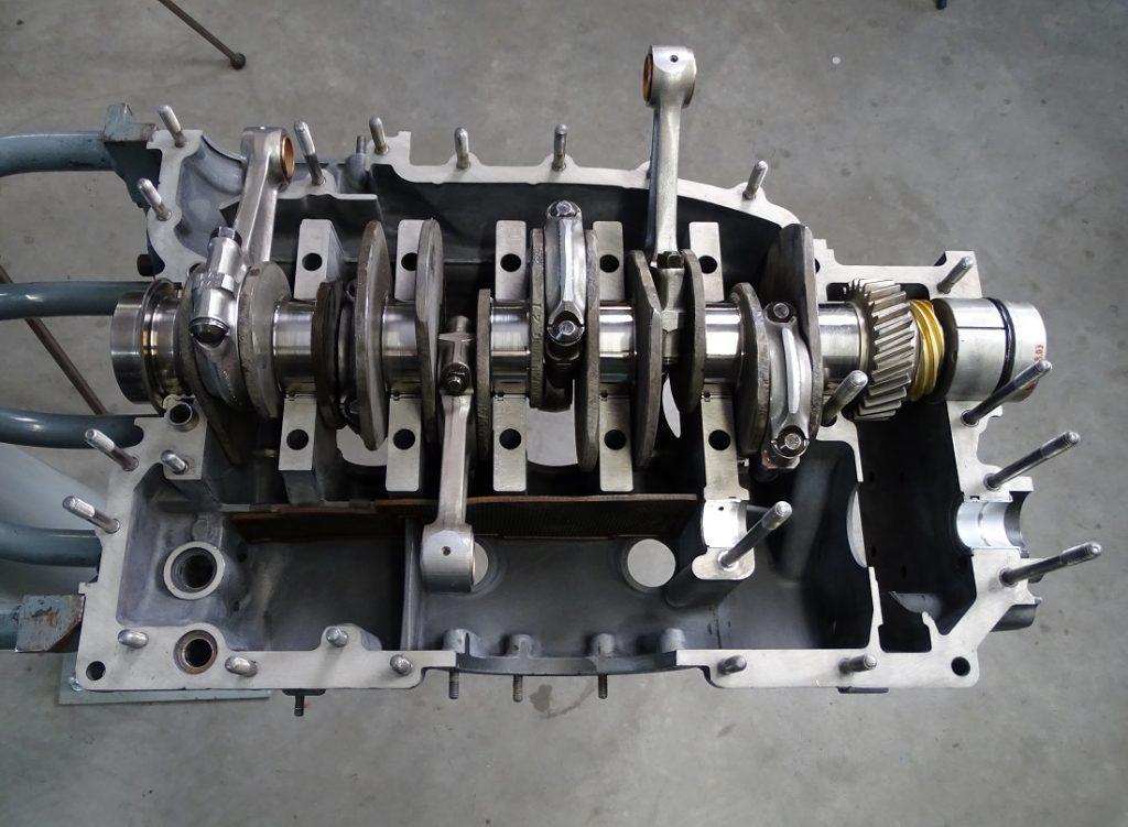 Crankshaft in the crankcase