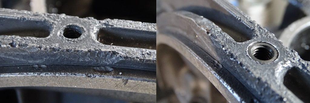 Thread repair on a magnesium case