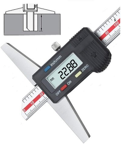 Digital depth gauge to measure the tang on the float