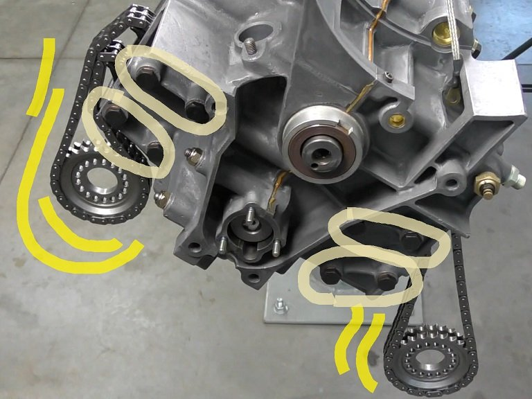 Timing Chain Guides in an air-cooled Porsche engine