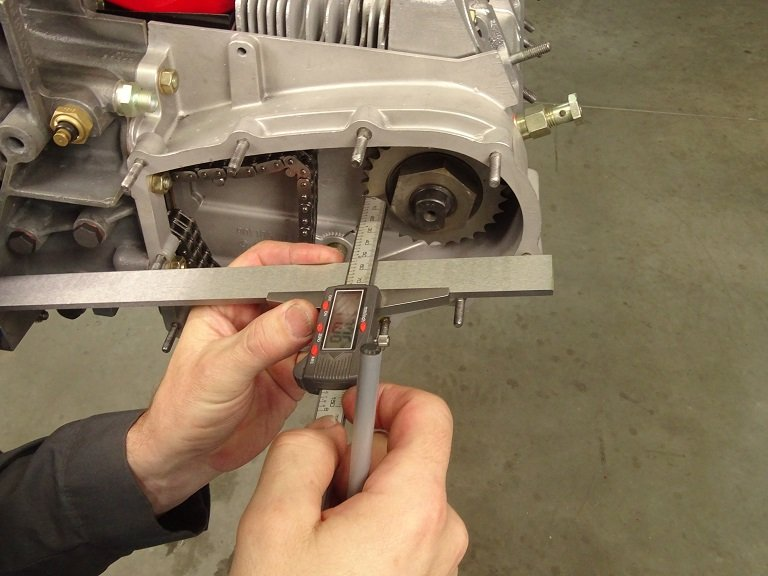 Timing a Porsche Cam shaft starts with setting the gear depth