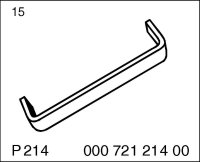 Timing chain tensioner holding tool P214