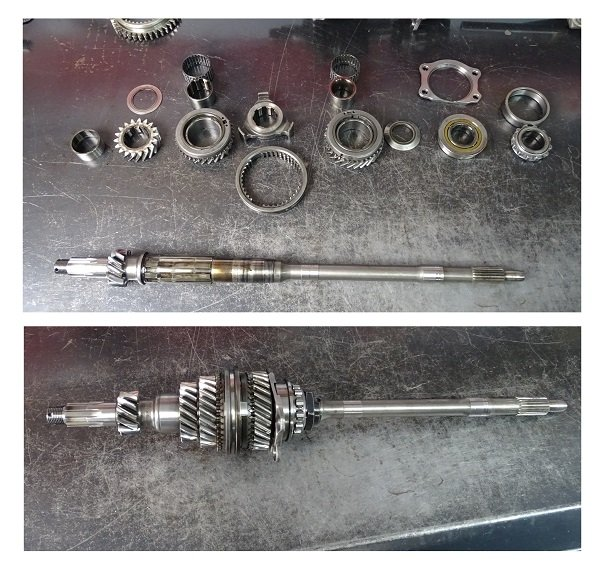 Lay out the gears as they come off the input shaft